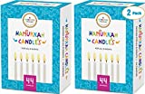 The Dreidel Company 44 White Hanukkah Candles for All 8 Nights of Chanukah (2-Pack)
