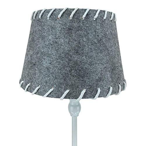 ARTHOME Home Art Design Filz Lampenschirm in grau mit Breiten Nähten