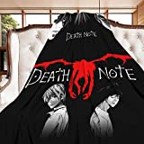 Eisvalaya Death Note Flannel Throw Blanket Lightweight Comfy Fluffy Warm Cozy Plush Cover Soft Queen Bed Twin Sofa Office (Death Note-P,Large 80in60in)