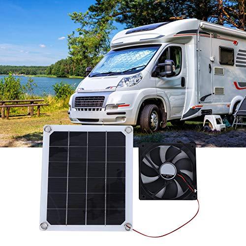 Oumefar Panel de Carga, Panel Solar portátil fácil de Instalar, Ventilador de Escape Solar de Alta eficiencia fácil de Transportar, Habitaciones livianas para automóvil doméstico