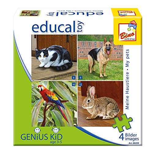 Bino 88259 - Puzzle con Animali Domestici