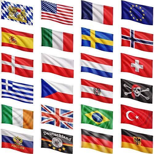FLAGMASTER® Aluminium Fahnenmast 6,50 m, inkl. Deutschland Fahne + Bodenhülse + Zugseil, 3 Jahre Garantie - 5