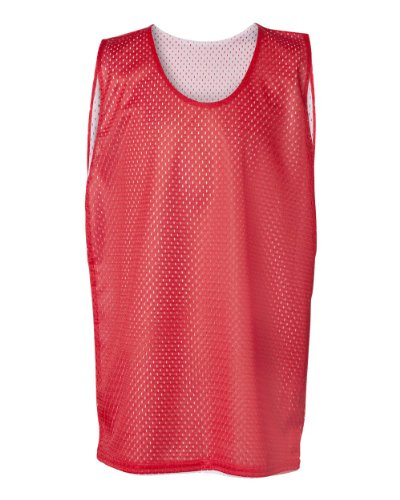 Badger Sport Red/White Youth Large Reversible Mesh Tank Top Jersey...