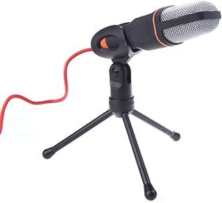 Andoer–Micrófono Wired Micrófono de condensador con Holder Clip para Charlando Cantar Karaoke PC Portátil