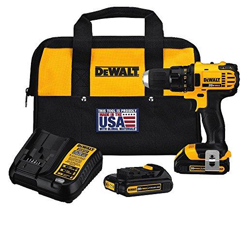 DEWALT 20V MAX Cordless Drill / Driver Kit, Compact, 1/2-Inch (DCD780C2)