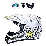 LALAGOU - Casco de motocross para niños, para BMX, MTB, Quad Enduro, ATV,...
