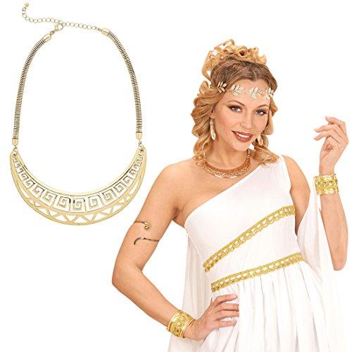 Amakando Collar Diosa Cadena Dorada antigüedad Amuleto Romana Accesorio Disfraz Mujer Gargantilla Reina Cleopatra Colgante Egipcio