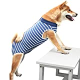 BIGNADO Recovery Suit for Dogs, Dog Recovery Suit After Surgery, Breathable Pet Surgery Recovery Shirt for Male Female Dog Abdominal Wounds Anti-Licking E-Collar & Cone Alternative Soft Fabric Onesie
