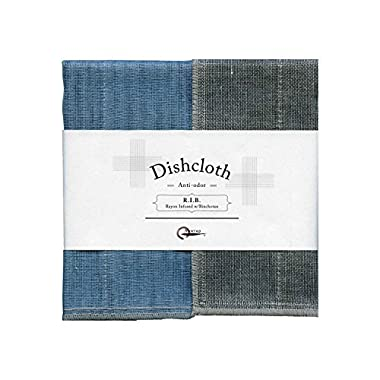 Nawrap Binchotan Dishcloth, Naturally Antibacterial, Aqua X Charcoal
