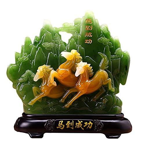 DIESZJ Feng Shui Figurine Good Luck Beautiful Landscape Serie Estatua Escultura Adorno Decoración de Oficina en casa, Regalos Que atraen Riqueza y Buena Suerte