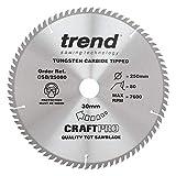 Trend CSB/25080 Craft Pro Fine Trim <span class='highlight'>TCT</span> Finishing <span class='highlight'>Blade</span> for <span class='highlight'>Circular</span> Table <span class='highlight'>Saw</span>, Tungsten Carbide Tipped, 250mm x 80 Teeth x 30 Bore