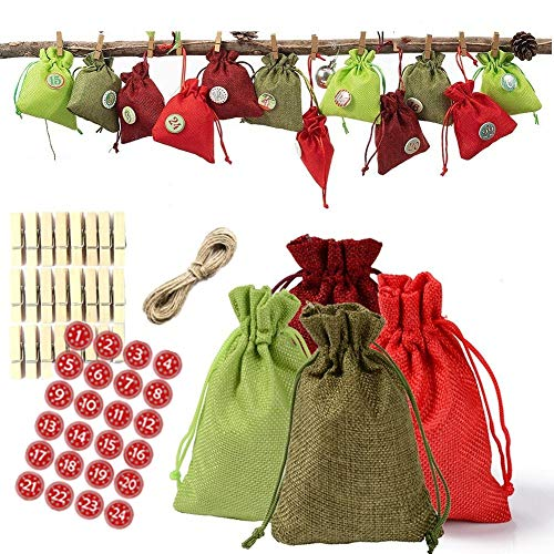 PLUS PO Drawstring Gift Bags Hessian Bags Small Christmas Party Decor Small Bag Giftmate Christmas Decoration Bag Small Drawstring Bag Xmas Tree Decoration