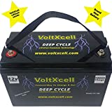 100ah Lithium Battery 12v Solar Wind Marine Boat Deep Cycle 12 Volt LifePo4 VoltXcell Fast Delivery BMS Included Off Grid for Storage Rv Home Car Audio