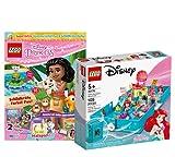 Collectix Lego 43176 - Juego de libro de cuentos de hadas de la princesa Ariel (incluye cuaderno de las princesas Lego (misterio, póster, cómics), incluye minifigura Vaiana