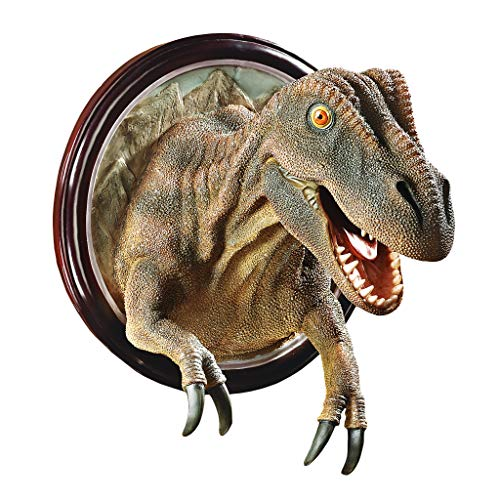 Design Toscano CL4891 T-Rex Dinosaur Trophy Wall Sculpture,Full Color