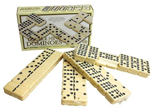 Double Nine Domino Set -Classic set with brass spinners by House of...