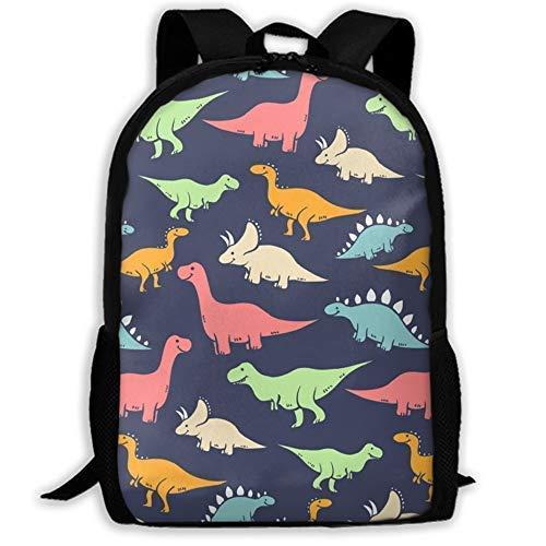XCNGG Mochila de impresión de fotograma Completo para Adultos Mochila Informal Mochila Mochila Escolar Lightweight Durable Backpack Daypack For School Travel Hiking, Funny Dinosaurs