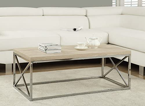 Best Monarch Specialties Modern Coffee Table for Living Room Center Table with Metal Frame, 44 Inch L, Na