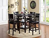 New Classic Furniture Gia Counter 5 Piece Dining Set, Ebony, Model Number: D1701-52S...