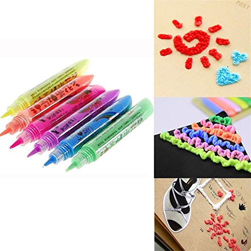 Magic Popcorn Pen, 6 Pcs Magic Color DIY Bubble Popcorn Drawing Pens for Painting DIY Craft Making, Scrapbooking Craft, Card Making