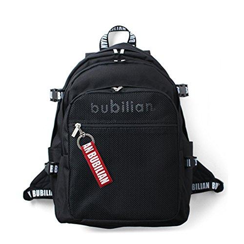 (バビリアン)Bubilian バビリアン 3DBTBBリュックサック+キーリング (ブラック(レッド)) [並行輸入品]