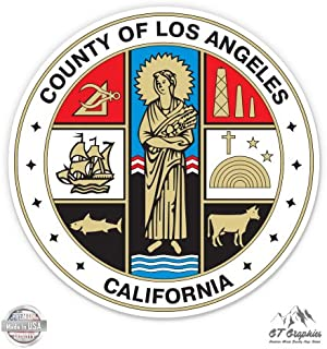 Los Angeles County Seal - Vinyl Sticker Waterproof Decal