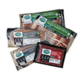 Pederson s Farms All Organic Variety Pack (5 Items) - Organic Bacon No Sugar Added, Organic Sausage No Sugar Added, Organic Grass Fed Ground Beef, Made in the US