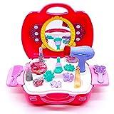 yoptote Kinderschminke Set Make-up-Set für Mädchen Spielzeug Schminkkoffer Gefüllt Mädchen Spielzeug Mit Spiegel 21 PCS -