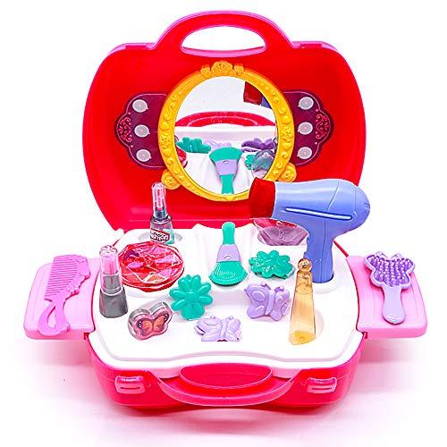 Maquillage Enfant Fille Malette Jeux Imitations Enfants Malette Maquillage Enfant Fille Beauté Jouets Make Up Kit Pretend Princesse Valise d'Imitation pour Fille