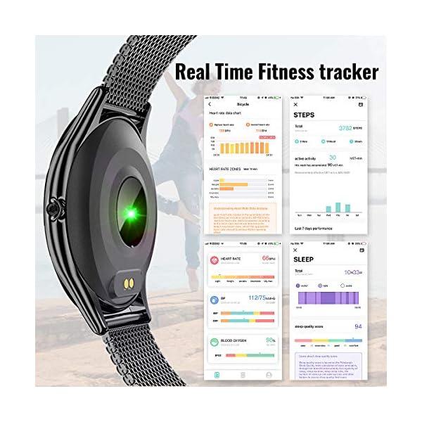HopoFit Reloj Inteligente para Mujer y Hombre, Smartwatch de Android iOS