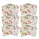 Cabilock 60 tovaglioli di carta per cocktail con stampa a uccellini, per matrimoni, compleanni, feste di nascita, feste