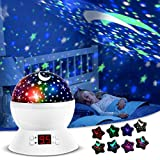 ANTEQI Star Projector Night Light for Kids Bedroom Decor with Timer Setting, 8 Lighting Modes for Boys and Girls Gift - White