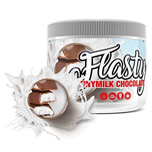 sinob Flasty Geschmackspulver (Tinymilk Chocolate) 1 x 250g Kalorienarmes Flavour Pulver mit 'Nur ca. 7 kcal pro Portion' bringt es Leben in deinen Quark, Joghurt und vielem mehr.
