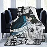 Gene Steinbeck Death Note-L Anime Print Ultra-Soft Micro Fleece Soft Throw Blanket Soft Light Weight Blanket 80'x60'