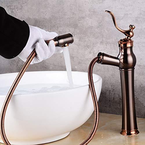 MGWA Wasserhahn New European Black Ancient ORB Gebürstetem Kupfer Tisch Unter Dem Becken Wasserhahn Diamant Retro Wasserhahn