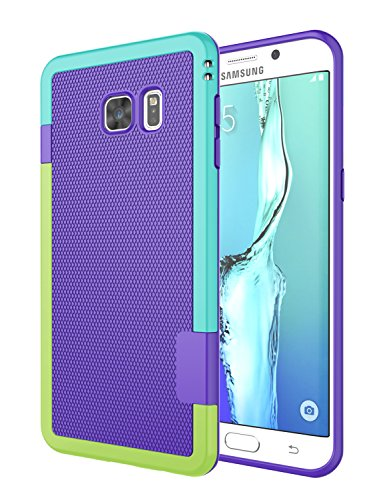 Galaxy S6 Edge Plus Case, Jeylly [3 Color] Slim Hybrid Impact Rugged Soft TPU & Hard PC Bumper Shockproof Protective Anti-Slip Case Cover Shell for Samsung Galaxy S6 Edge+ Plus G928 - Purple