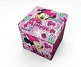 Star Disney Minnie Art Code - 54669 Pouf Contenant avec Coussin Imprimé Dimension 32...