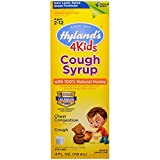 Hyland's Cough Syrup with 100% Natural Honey 4 Kids 4 oz ( Pack of 2)