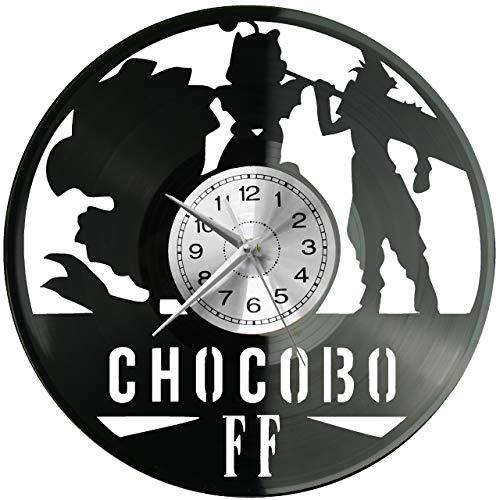 Final Fantasy - Reloj de pared de vinilo, diseño retro