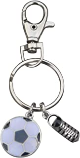 Infinity Collection Soccer Keychain, Soccer Gifts, Soccer Zipper Pull, Proud Soccer Player, Team or Coach Gifts