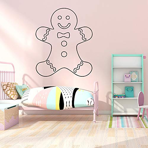 LSMYE Schneemann Cartoon Wandtattoos PVC Wandkunst Diy Poster Wasserdichte Wandtattoos Raumdekoration Lila XL 57cm X 68cm