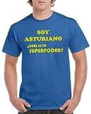 Camisetas divertidas Child asturiano ¿Cuál es tu Superpoder? - para Hombre Camisetas Talla XXL Color Azul