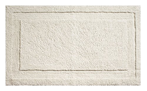 "InterDesign Microfiber Spa Bathroom Accent Rug, 34"" x 21"" Inches, Natural"