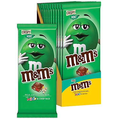 M&M'S Crispy Mint & Minis Milk Chocolate Candy Bar, 12 Count of 3.9 oz Bar each, 46.8 oz