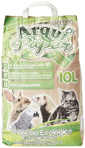 Arquivet Pet litter paper - Lecho papel reciclado, pequeños mamiferos - 10 L