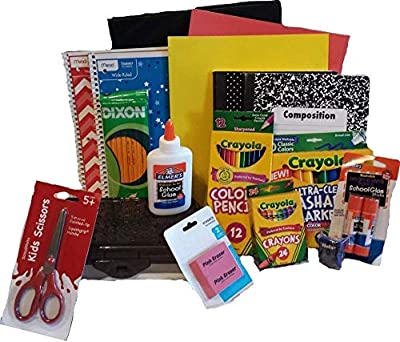 Back to School Essentials Supplies Kit Bundle K-8-20 Piece First Day of School Essentials Kit from School Supply Boxes