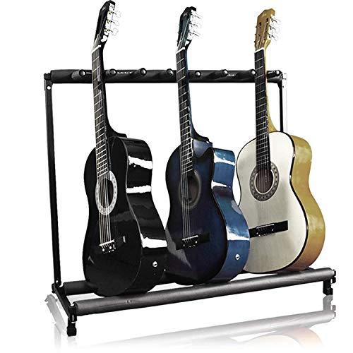 Dawoo Soporte De Guitarra 7 Soporte De Guitarra Plegable Organizador De Almacenamiento...