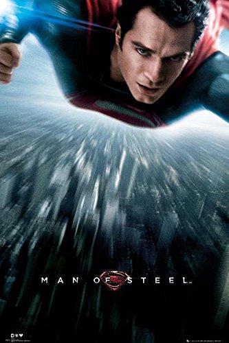 Superman Póster Man of Steel/El Hombre de Acero Volando (61cm x 91,5cm)