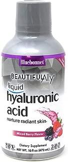 Bluebonnet Nutrition Liquid Hyaluronic Acid, Best for Hair, Skin, Nails, Vegan, Vegetarian, Non GMO, Gluten Free, Soy Free, Milk Free, Kosher, 16 fl oz, 32 Servings, Mixed Berry Flavor