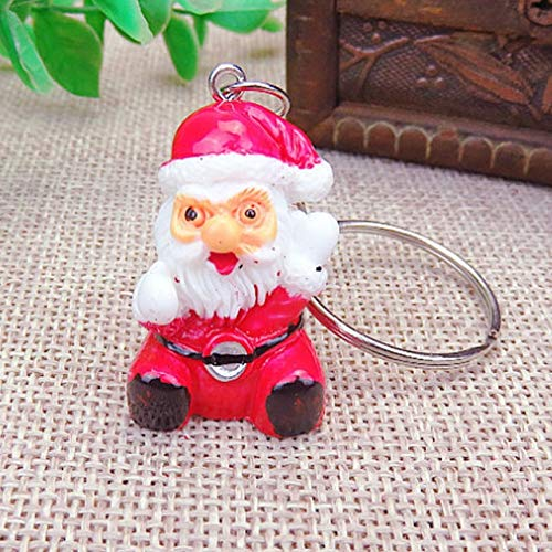 US Warehouse - Pendant & Drop Ornaments 1PC Key Chain Pendant Christmas Boots Car Christmas Hat Tree 2018 New Arrival Father Christmas Snowman Gifts - (Color: F)